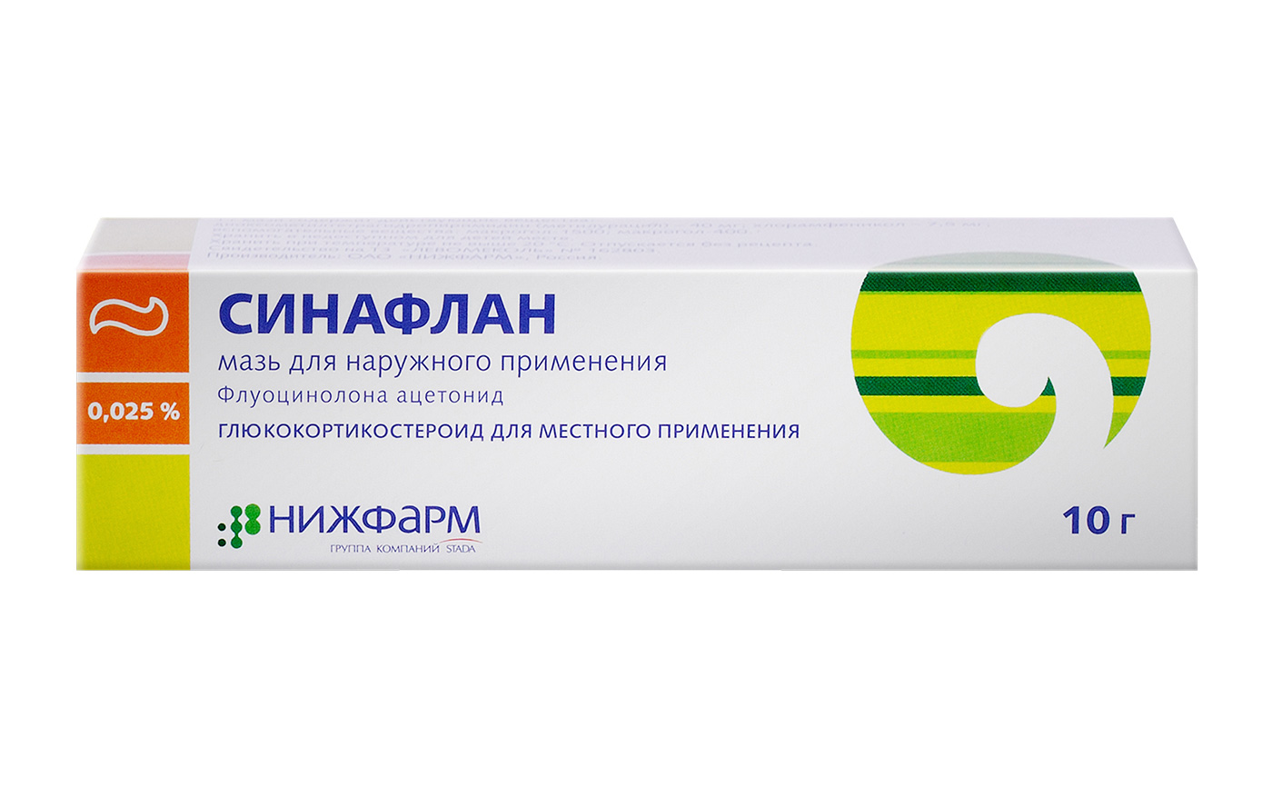 The drug Sinaflan (ointment). Instructions for use 65